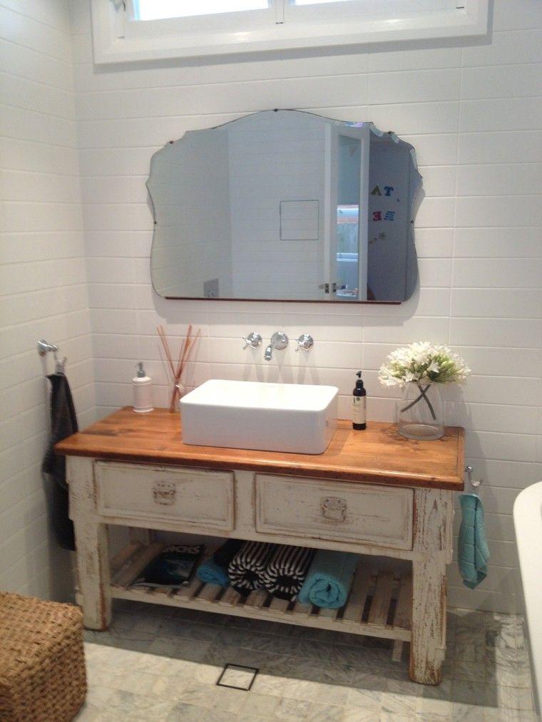 mueble madera envejecido baño restaurado