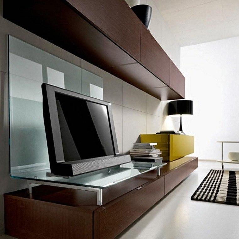 mueble moderno cristal salón tv