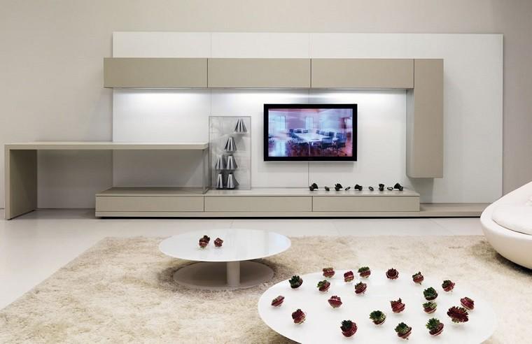 mueble grande beige blanco tv
