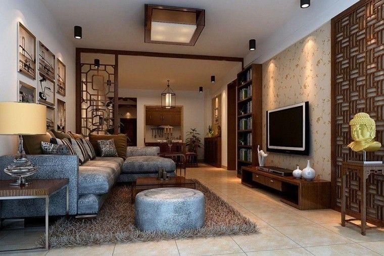 mueble tv madera bajo salón