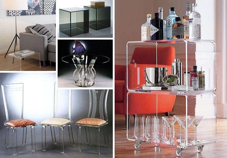 muebles acrilico botellas casa mobiliario