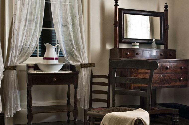muebles aseo estilo retro madera
