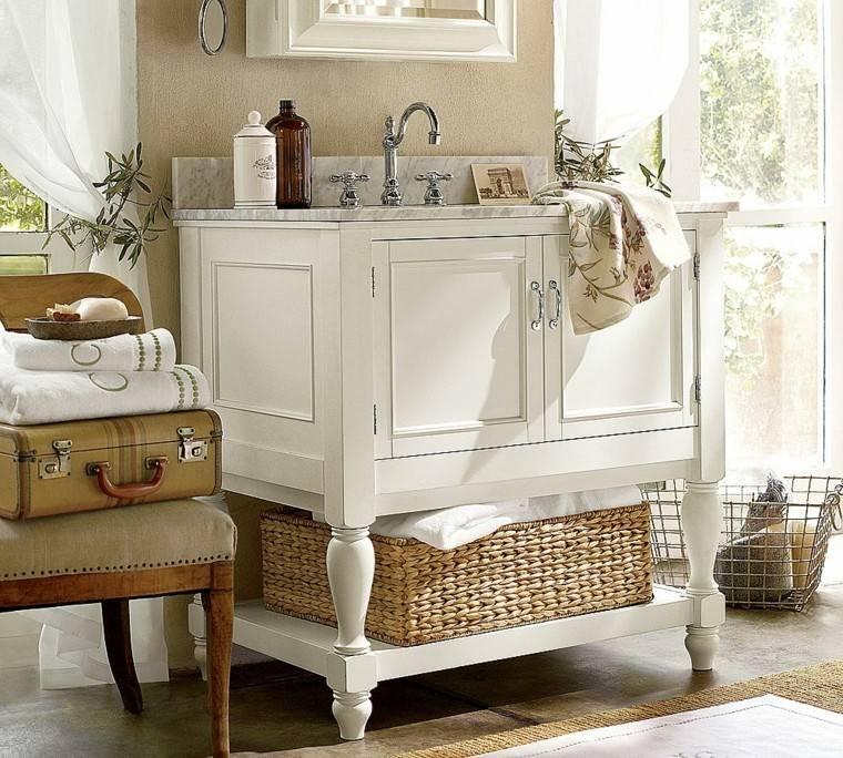muebles baño baratos blanco