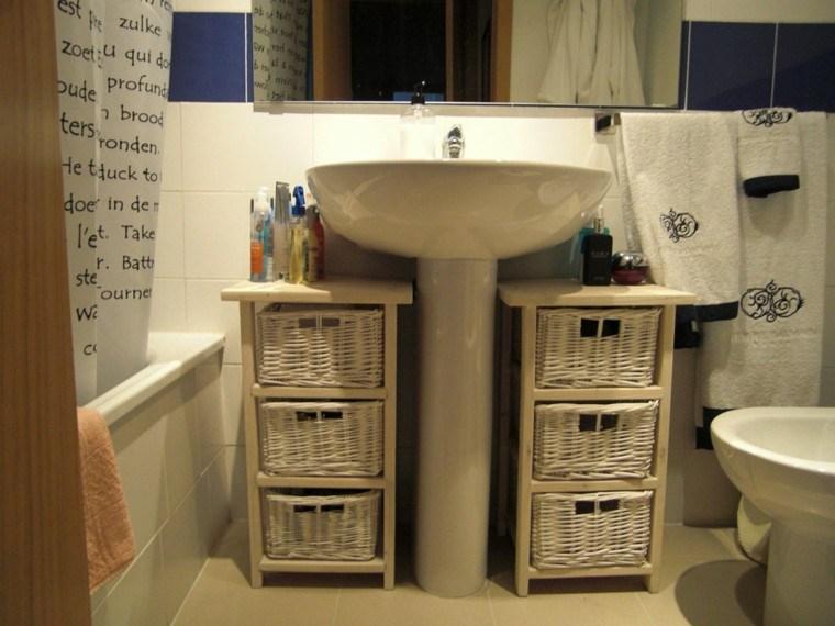 muebles baño baratos cestas mimbre