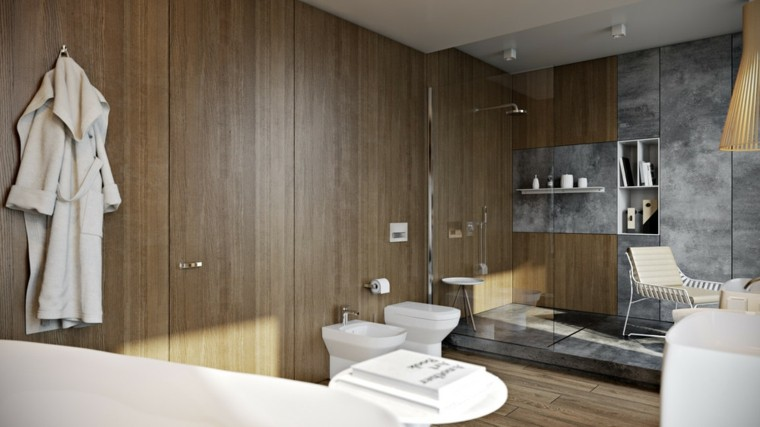 muebles baño laminado paredes madera