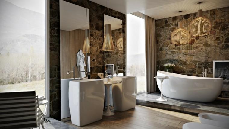 muebles baño lamparas colgantes doradas