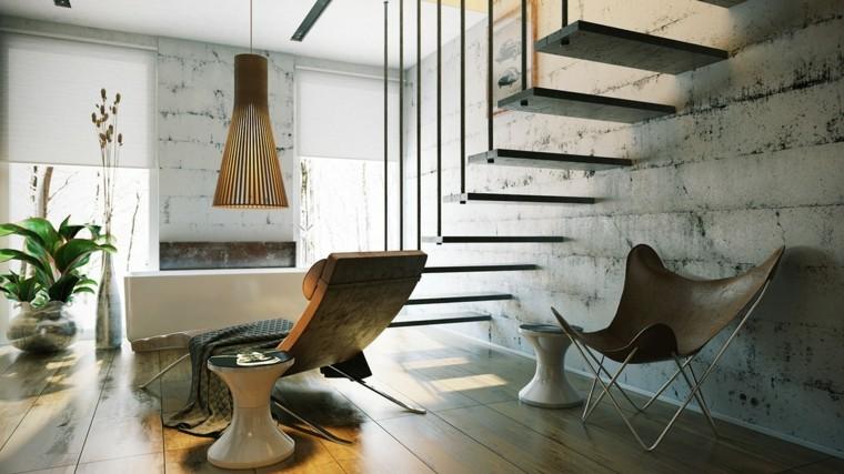 muebles baño silla piel marrón