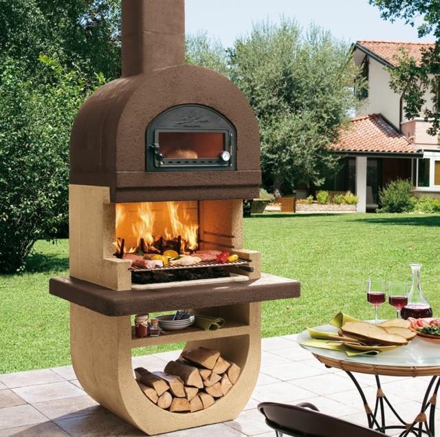 muebles barbacoa horno jardin ideas fuego