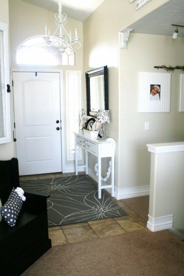 muebles blancos entradas estechas ideas diseño interesantes