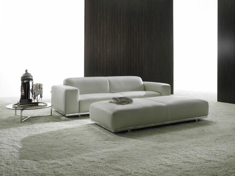 muebles blancos salon moderno minimalista