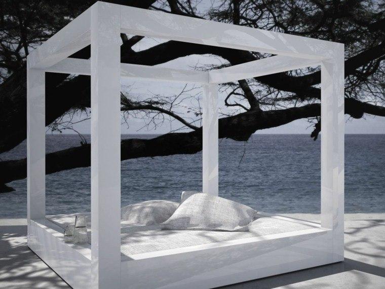 muebles cama dosal exterior piscina moderna