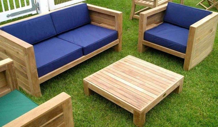 muebles canape jardin madera teca
