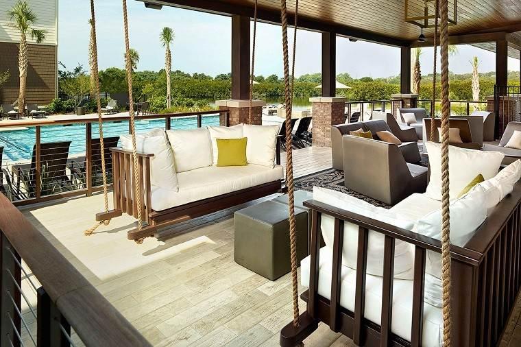 Muebles e ideas de accesorios modernos para el jard n for Mobiliario para terrazas pequenas