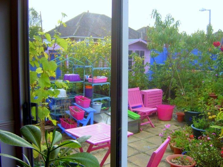 muebles color jardin rosa accesorios
