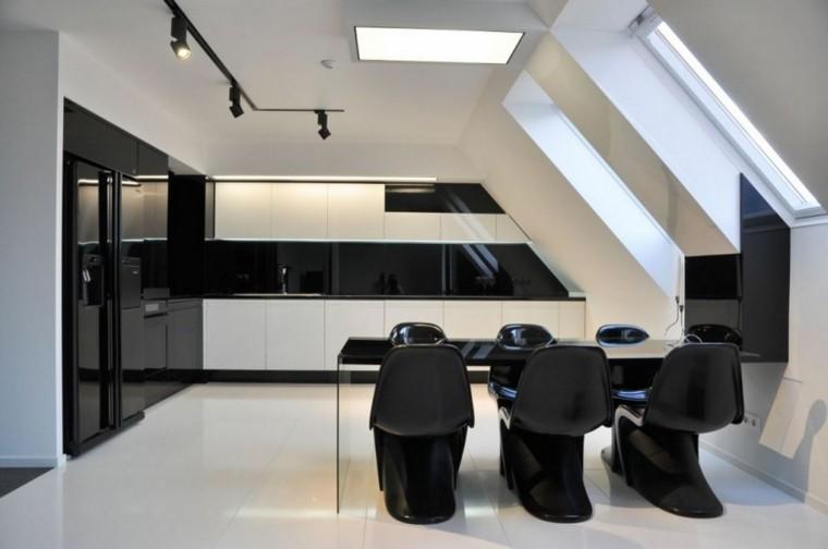 muebles comedor estilo contemporraneo negro moderno