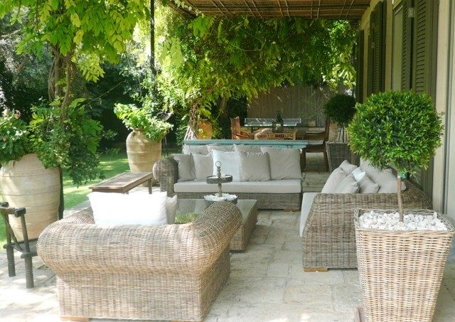muebles comodos plantas verde macetas ideas