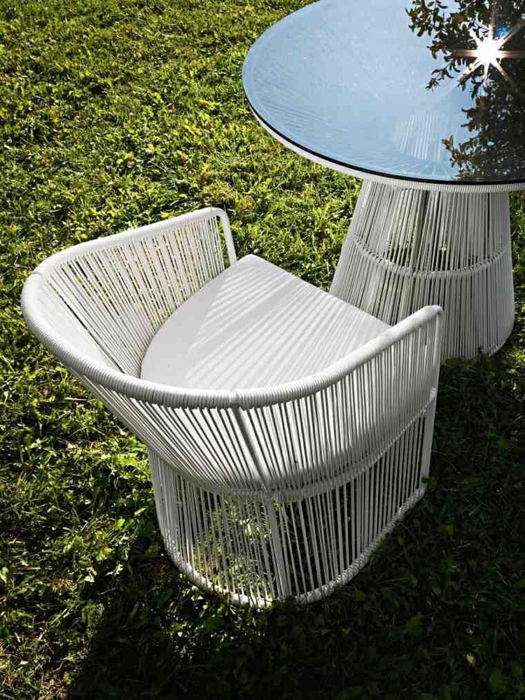 muebles de diseño comidas jardin mesa lujo cristal