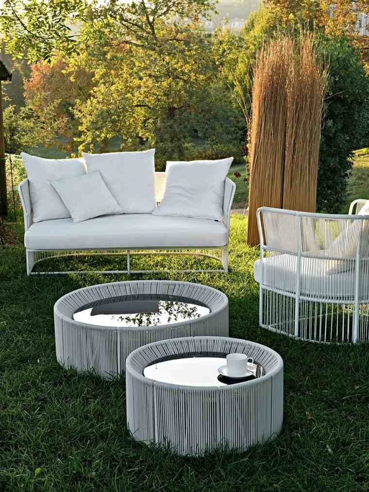 muebles de diseño exterior sofa mesas moderno cristal