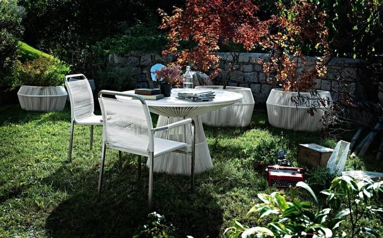 muebles de diseño ideas comida aire libre modernas