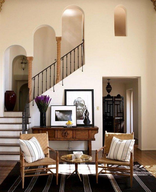 muebles de entada mesa redonda marmol sillas