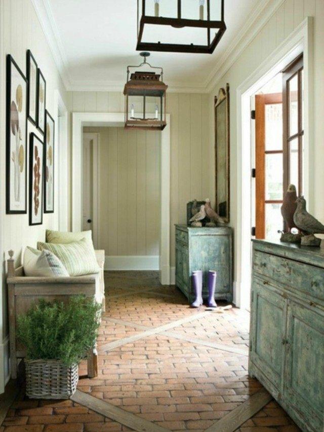 muebles de entrada estilo rustico helecho diseño