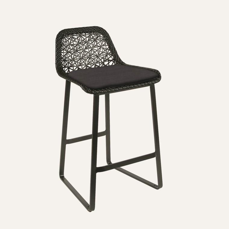 muebles de jardín bar silla aluminio alta