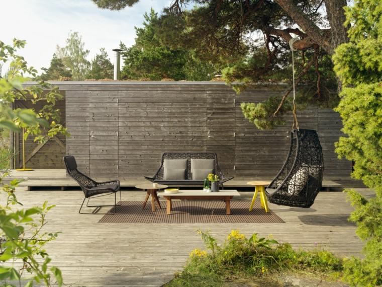 muebles de jardín patio diseño sofa silla colgante