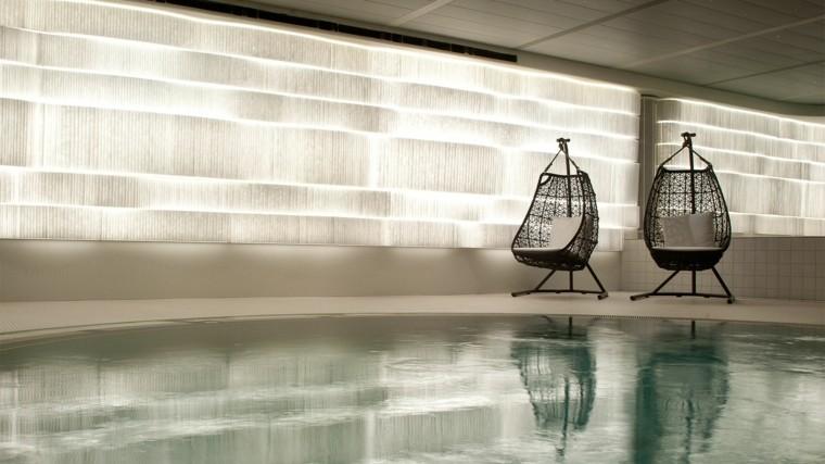 muebles de jardín silla colgante cojines piscina