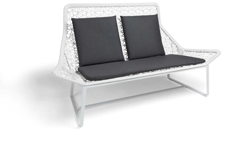 muebles de jardín sofa blanco cojines maia