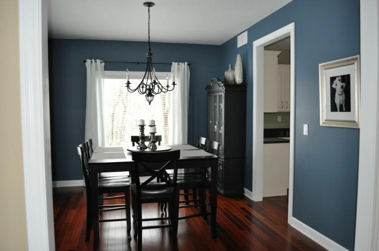 Decoraci 243 N De Interiores Y Color Azul En Comedores