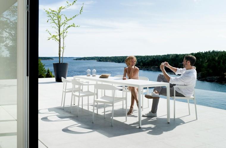 muebles exterior comodos ideas original blanco diseño
