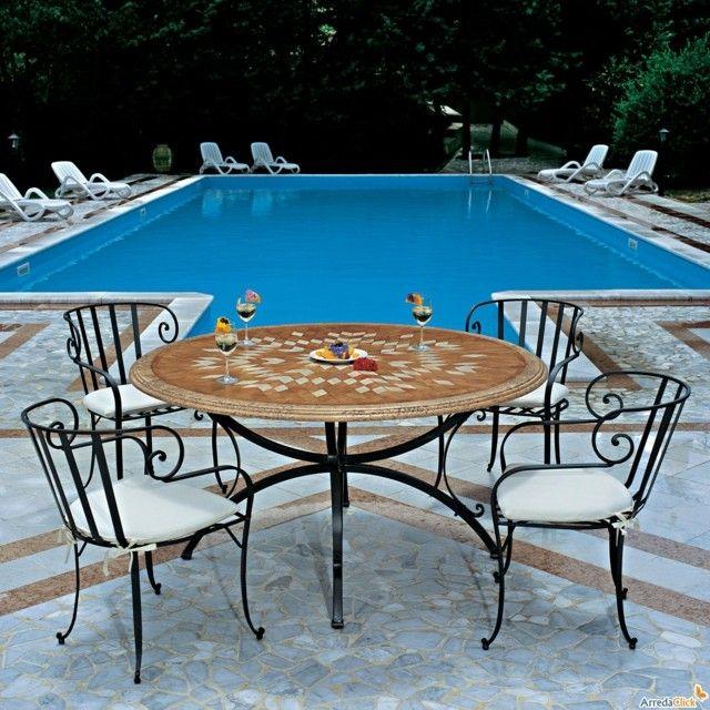 muebles forja piscina ideas cojines modernos blancos