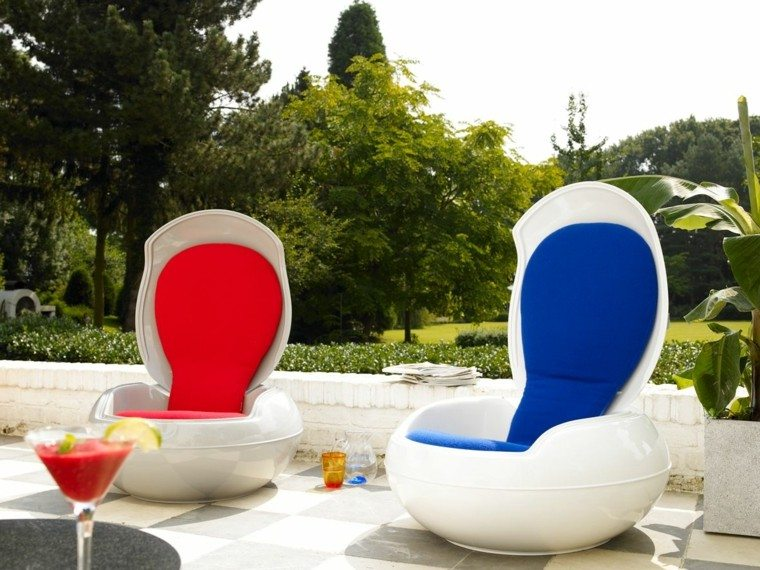 muebles interesantes proteccion rojo azul cojines ideas