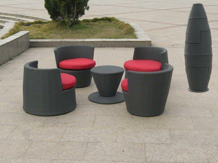 Cojines y almohadones esponjosos para el jard n - Cojines para muebles de jardin ...