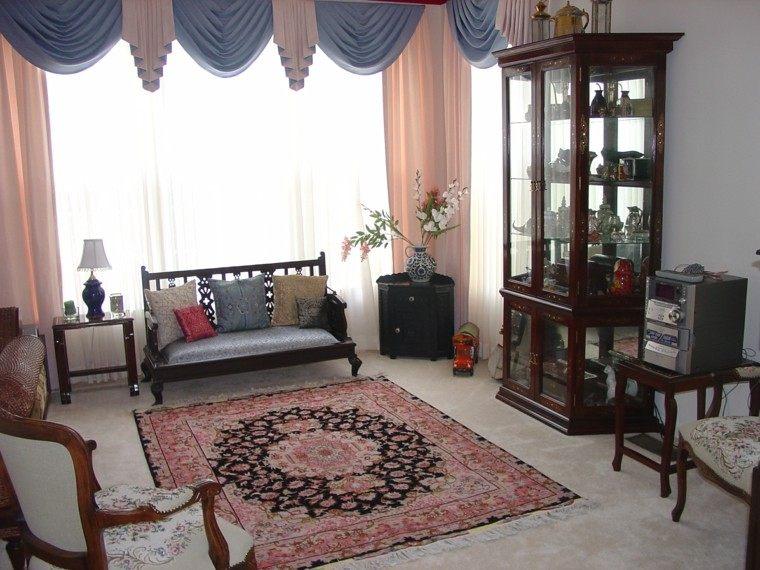 muebles madera estilo rustico alfombra simple