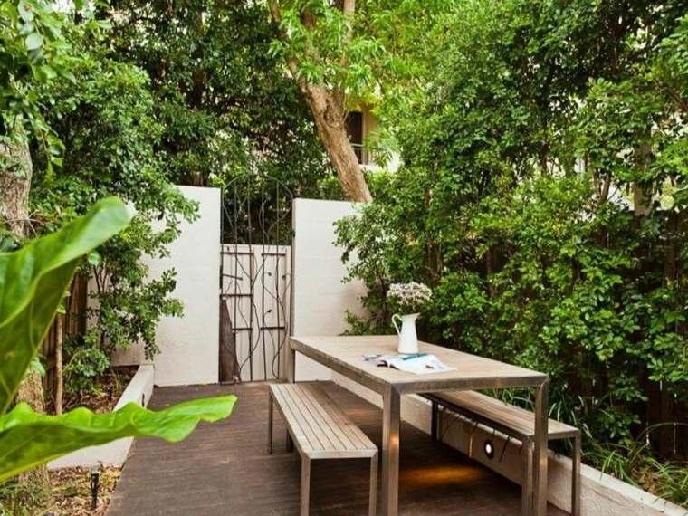 muebles madera ideas bonitas patio bancos