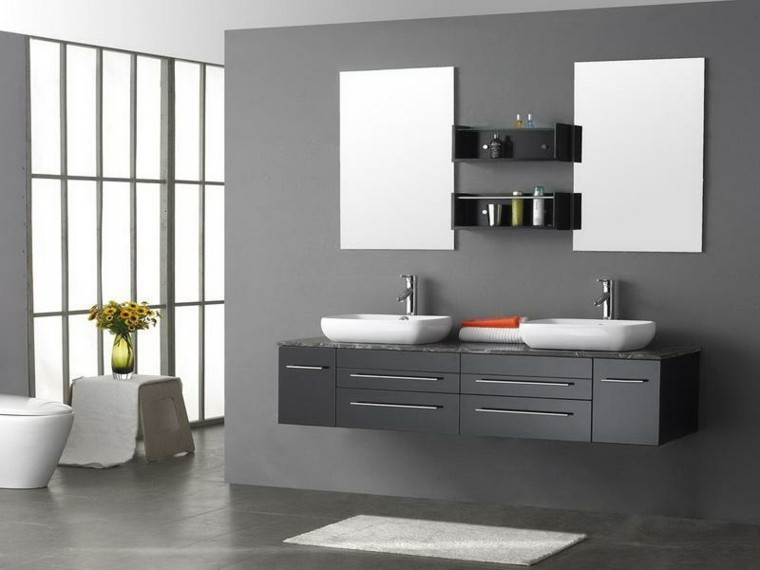 muebles modernos baos baratos gris