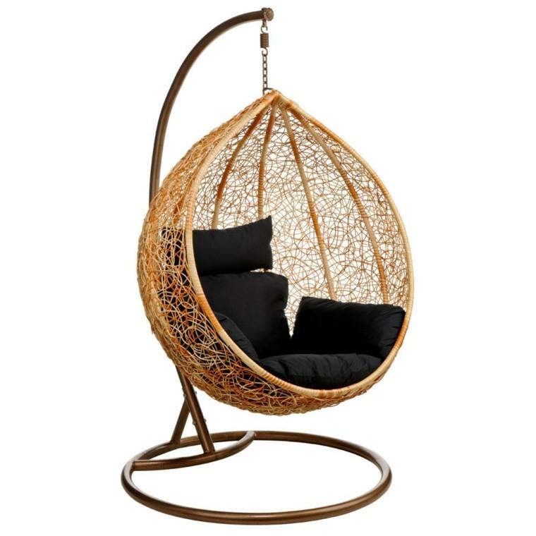 muebles modernos silla colgante rattan ideas