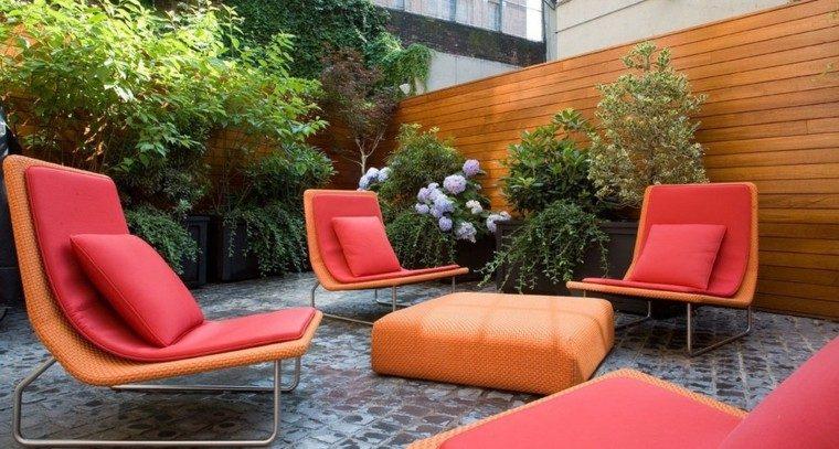 furniture orange color decoration cushions