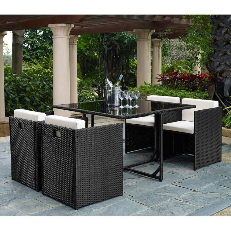 muebles ratan retiro patio ideas originales modernas