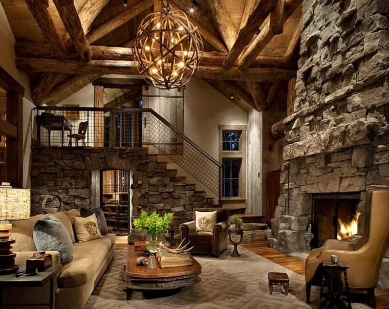 mueblesrústicos mesa genial madera pared ideas piedra