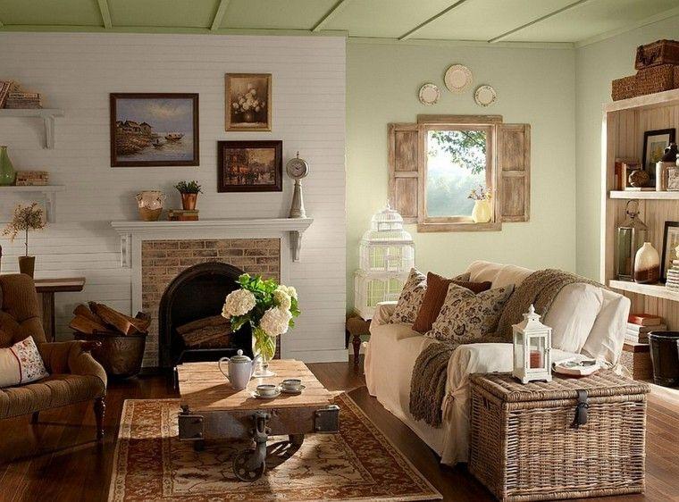 muebles rústicos texturas sofa-pequeno comodo mesa interesante ideas