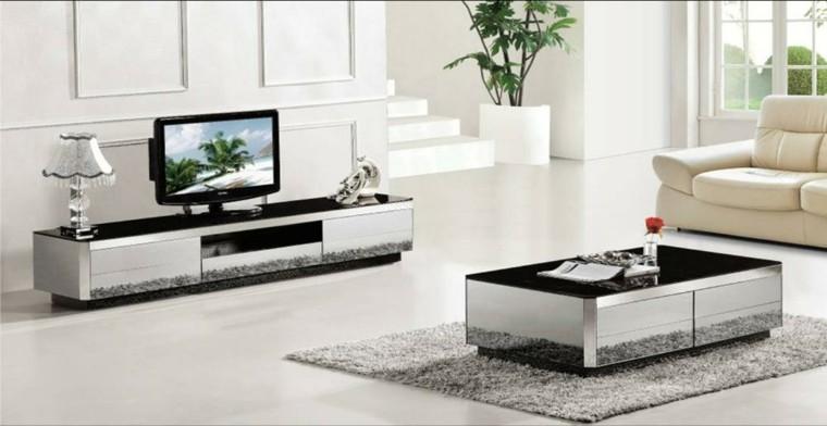 muebles salon espejo televisor