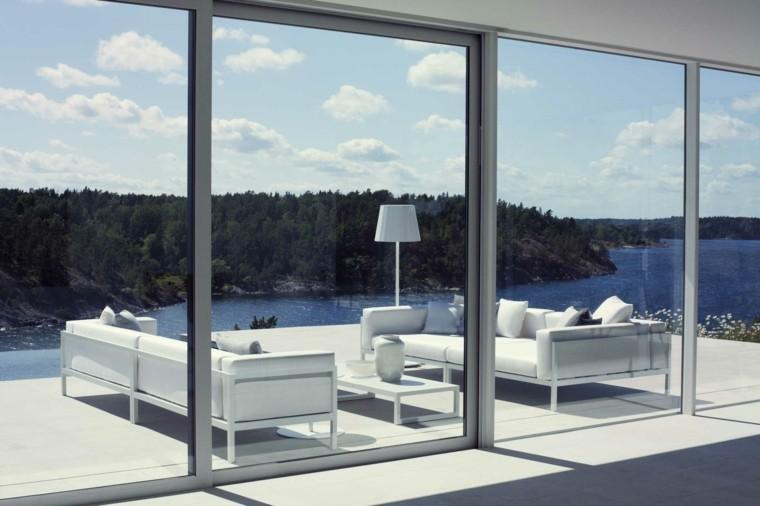 muebles salon exterior lampara lago