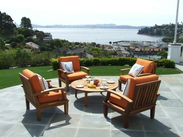 muebles teca bonitos ideas geniales jardin bonito moderno