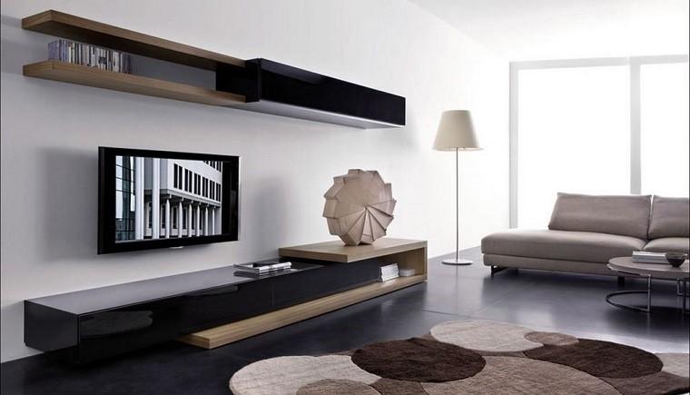 televisor colgante pared mueble