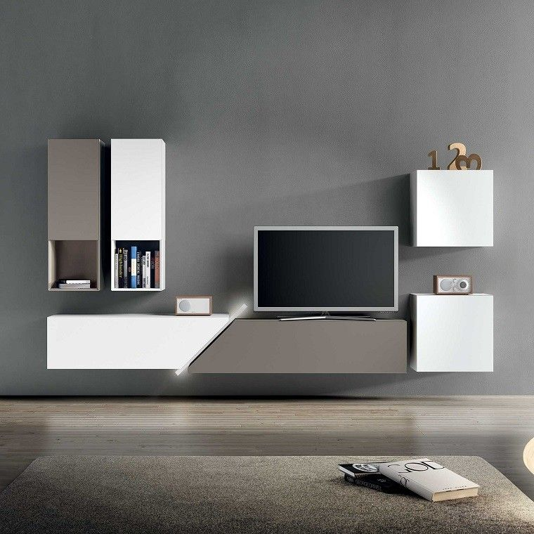 muebles tv y bibliotecas para el sal n o sala de estar. Black Bedroom Furniture Sets. Home Design Ideas