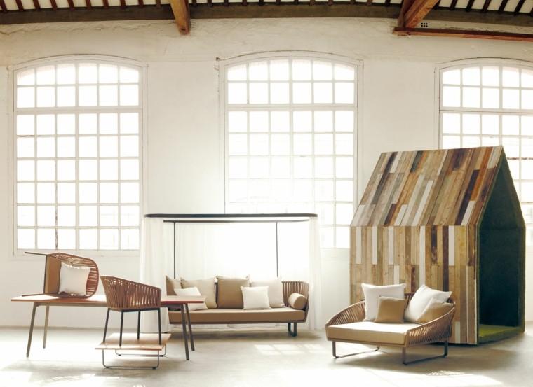muestra sofa sillas techado casa