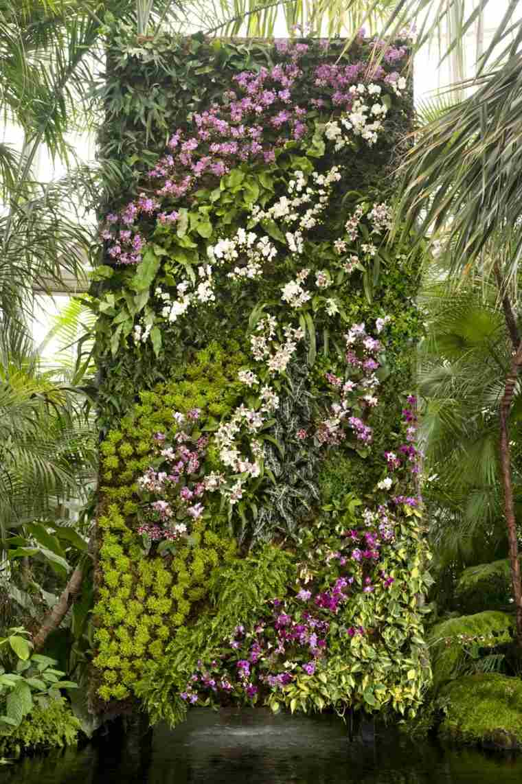 mundo natural jardin vertical ideas casa plantas