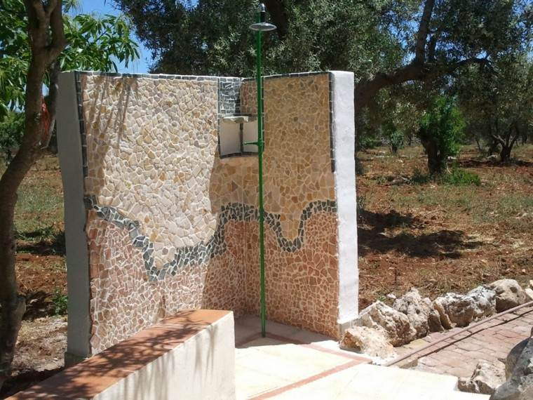 mural rocas muro ducha ele